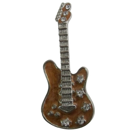 Classic Guitar Brooch For Music Band Club & Fabulous Gift Music Lover