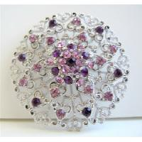 Amethyst Crystals Round Brooch Sophisticated Formal Round Brooch from fashionjewelryforeveryone.com