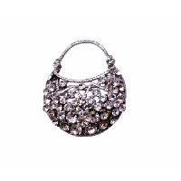 Cubic Zircon Purse Brooch Very Cute Brooches Silver Casting Pin Brooch :  embedded cubic zircon purse brooch elegant purse brooch fully embedded cz brooch