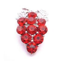 Dress Brooch Siam Red Crystals Brooch