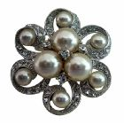 Pearls Brooch Pin for Bridal Or Bridesmaid Dress Jewelry