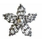 Artist Creative Brooch Superior Quality Flower Fully Embedded w/ Simulated Diamond 3 X 3 Inches Size Brooch