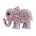 Elephant Brooch Elephant Fully Embedded w/ Cubic Zircon Brooch