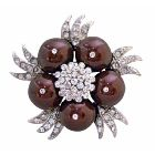 Meroon Pearls Fashionable Designed Wedding Party Brooch