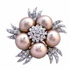 Champagne Pearls Brooch Accessory Matching Your Wedding Dress