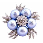 Lite Blue Brooch Bridal Party Fashionable Brooch Wedding Swarovski Blue Brooch