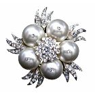 White Pearls Brooch Wedding Fashionable Bridal Wedding Bridesmaid Swarovski White Pearls Brooch