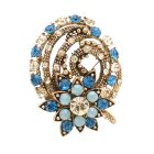 Indicolite Gold Brooch Wedding Brooches Fashion Brooches Bridesmaid Brooch At A Great Price