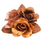 Wedding Dress Bridal Latte Gowns Satin Brooch Satin Latte Flowers Brooch Cake Brooch