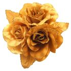 Looking For Dress Brooch Golden Satin Flower Brooch Hair Bun