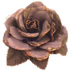Soft Cocoa Color Flower Brooch Perfect Shade For Wedding & Hair Bun