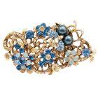 Exquisite Marvelous Brooch Indicolite Jonquil Crystals Boquet Brooch
