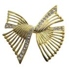 Shop The Latest Sashes Golden Bow Brooch