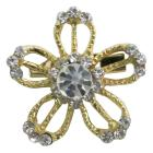 Dazzling Appealing Golden Flower Brooch