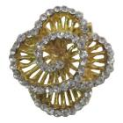 Gold Swril Brooch Rose Dazzling Brooch