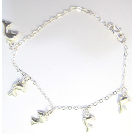 Dolphin Sterling Silver 92.5 Bracelet