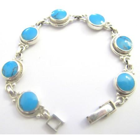 Turquoise Sterling Silver 92.5 Bracelet Sterling Bracelet
