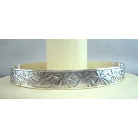Sterling Silver Cuff Bracelet Self Designed Bracelet