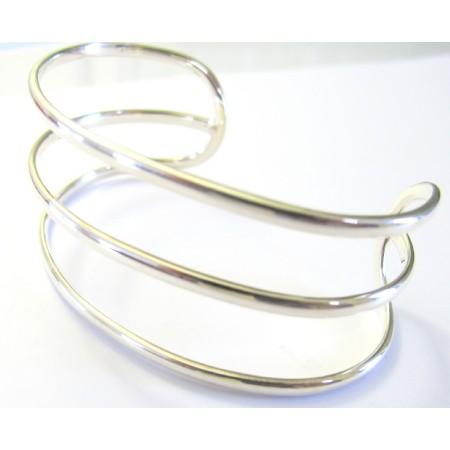 Row Sterling Silver Cuff Bracelet Sterling Silver 92.5 Bangle Bracelet