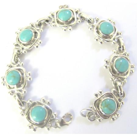 Sterling Silver 92.5 Turquoise Bracelet Sterling Bracelet