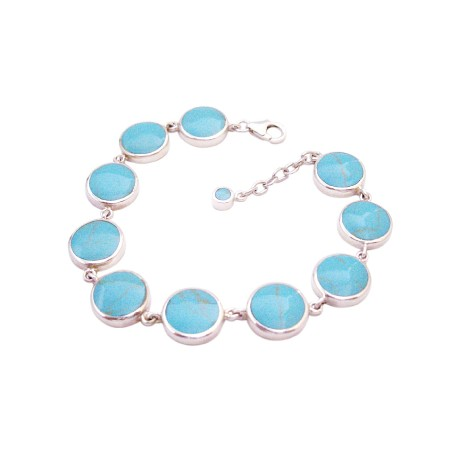 Gift & Presents Online Sterling Silver Attractive Turquiose Bracelet