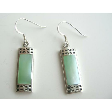 925 Silver with Mother Of Pearls Inlay Earrings