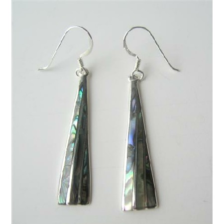 Stunning Earrings Sexy Shell Abalone Sterling Silver 92.5 Earrings