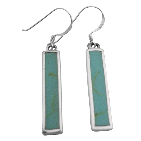 Stylish Green Turquoise Sterling Silver Inexpensive Gift Jewelry