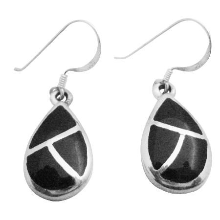 Jewelry For Gift Sterling Silver Onyx Earrings Modern & Artsy Earrings