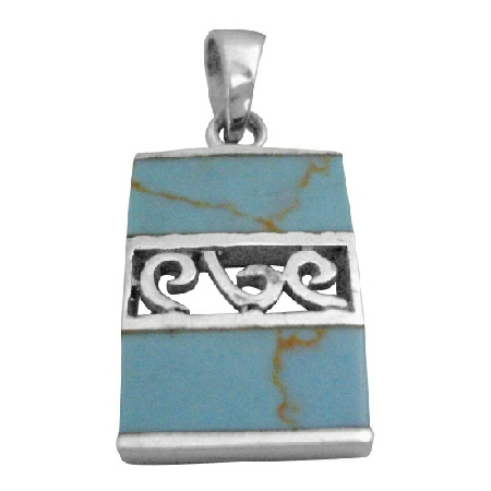 Web Turquoise Jewelry Sterling Pendant