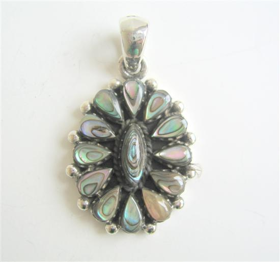 Stylish Abalone Sterling Silver Pendant In Oval shape Weight 6.5 gm
