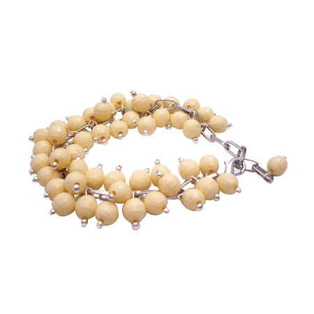 Artisan Creative Jewelry Cluster Bracelet In Canary Beads Bracelet
