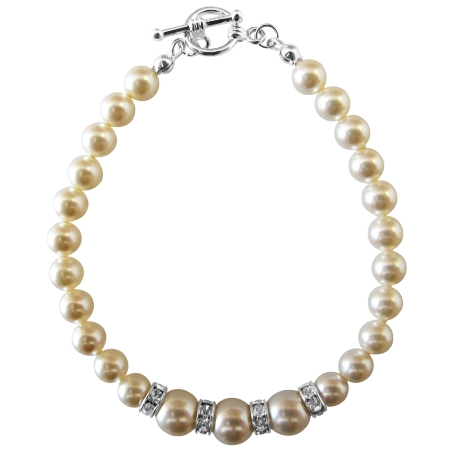 Arrival Fashion Jewelry In Ivory Pearls Bracelet