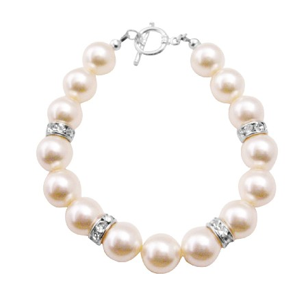Big Pearl Bracelet Ivory Pearl Exclusively Gift Wedding Flower Girl Prom New Arrival Bracelet