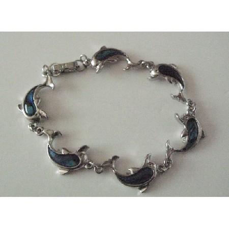 Abalone Dolphin Charm Bracelet Shell Bracelet