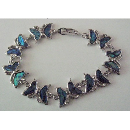 Butterfly Bracelet Abalone Shell Beautiful Gift Inexpensive Bracelet