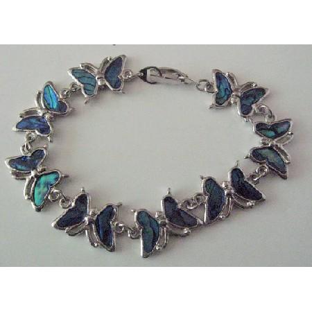 Butterfly Bracelet Abalone Shell Beautiful Gift Inexpensive Bracelet