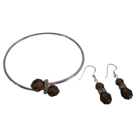 Save On Jewelry Smoked Topaz Crystals Bridesmaid Jewelry