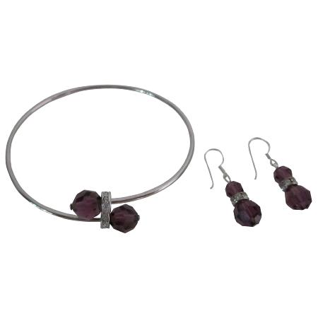 Enchanta Collection Classy Amethyst Crystals Jewelry