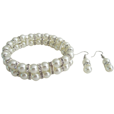 Affordable Elegance Bridal Accessories Bracelet Daimond Sparkling with Earrings