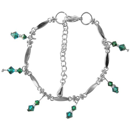 This Bracelet is Exquisite Beauty in Emerald Crystals