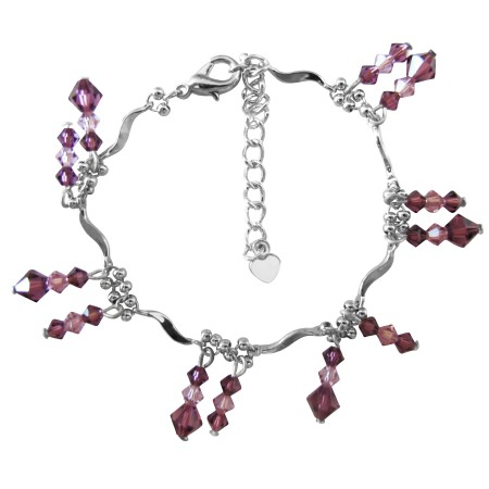 Amethyst Crystals light & dark mix match dangling