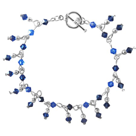 Sapphire Crystals Bracelet Hand Made
