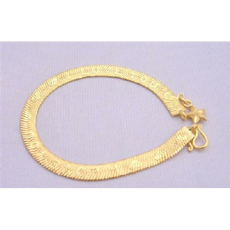 Gold Plated Bracelet Very Sleek Dainty Heart & word Love You Bracelet