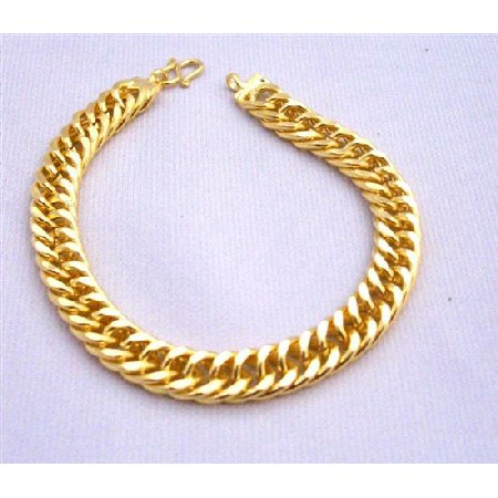 solid gold cuban bracelet products miami yellow grande thick