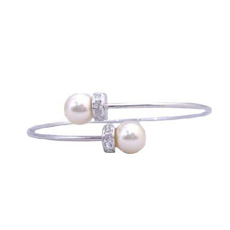 Soothing Pearls Jewelry Cream Pearls Wire Bracelet Rondells