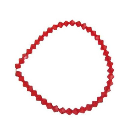 Siam Red Crystals Stretchable Bracelet