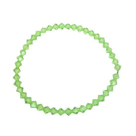 Affordable Peridot Crystals Jewelry Stretchable Bracelet