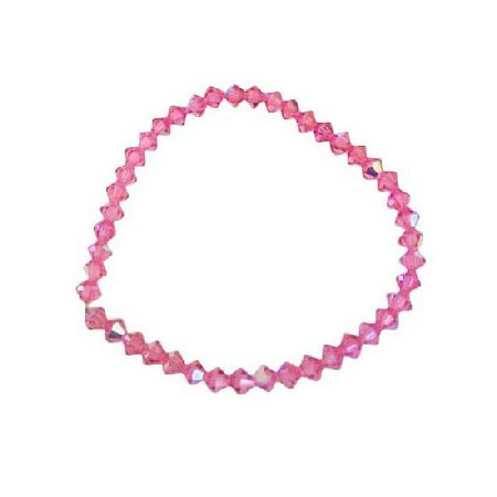 Sexy Pink Crystals Stretchable AB Fuchsia Pink Bracelet