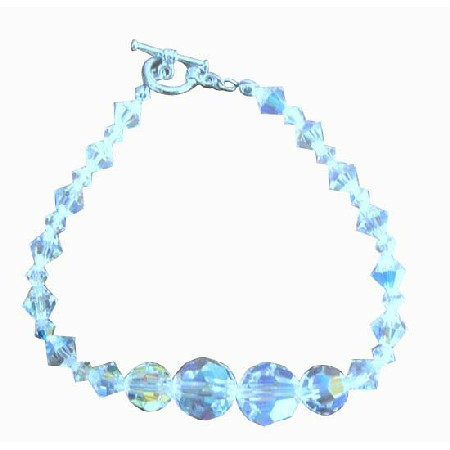 Irridescent Crystals AB Cryrstal Bridal Handcrafted AB Crystal Bracelets Custom Bracelet